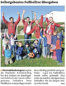 Fußballtor Kindergarten