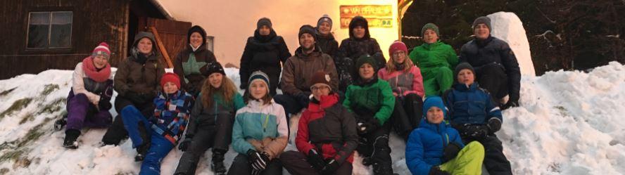 Winterlager der Guides und Späher 1+3 in Oberschwarzenberg